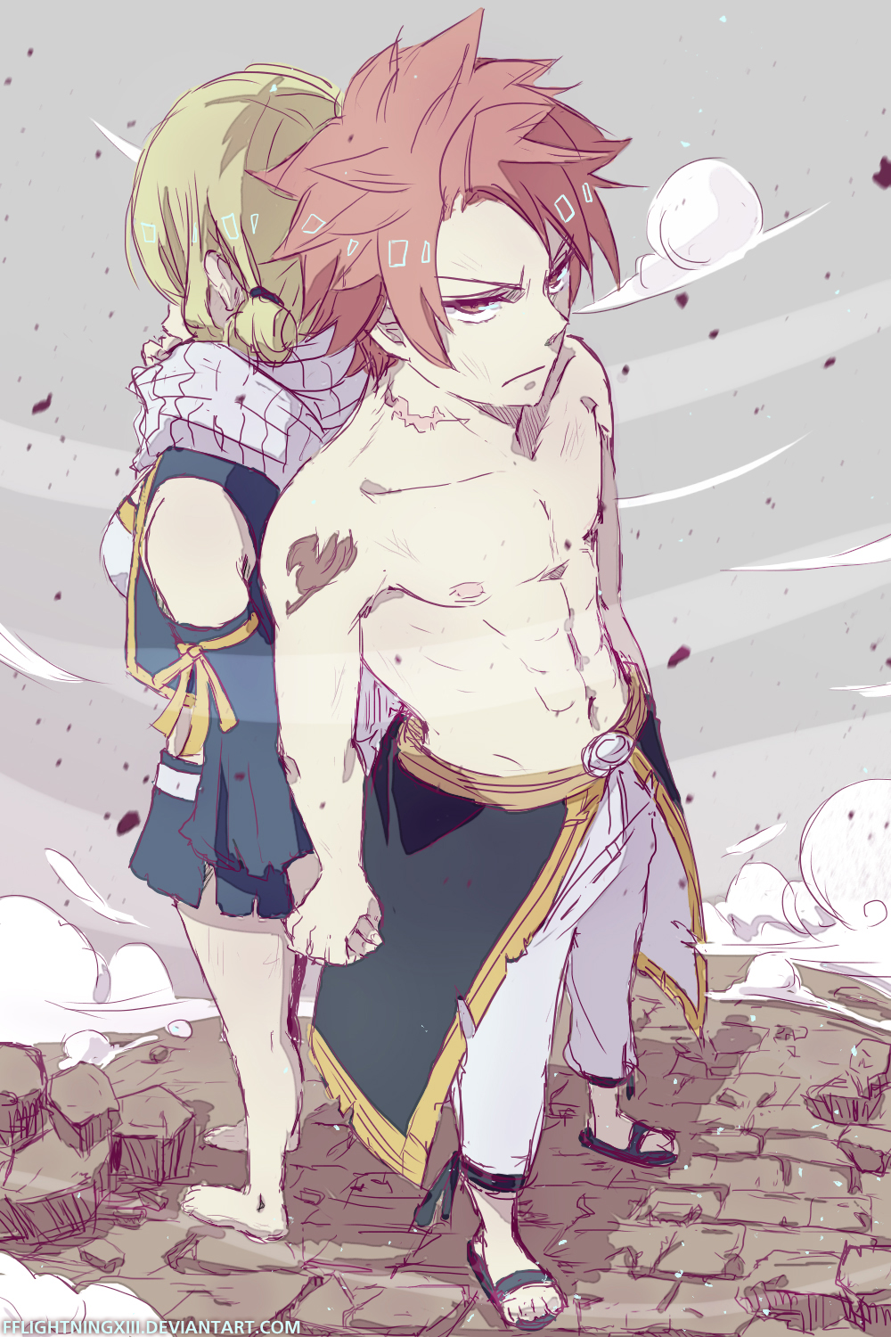 Holding your hand natsu and lucy