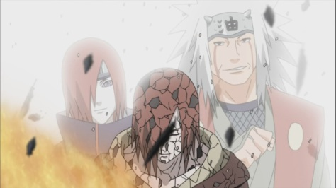 Jiraiya and Nagato look at Naruto