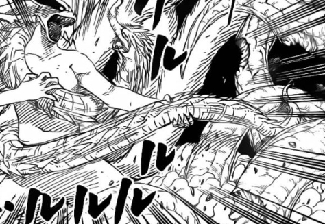 Kurama against Hashirama's snake