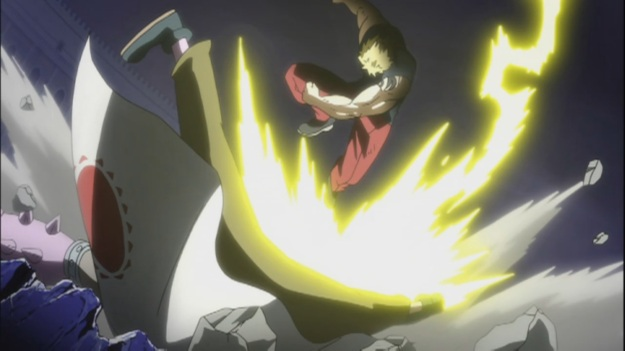 Laxus' Lightning attack