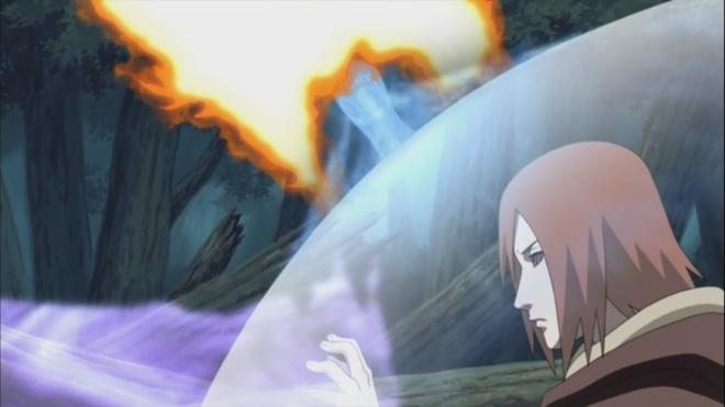 Nagato absorbs Naruto's Rasengan