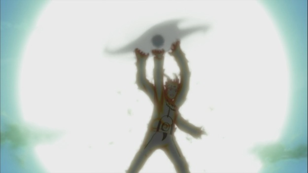 Naruto's Rasen Shuriken for Raikage