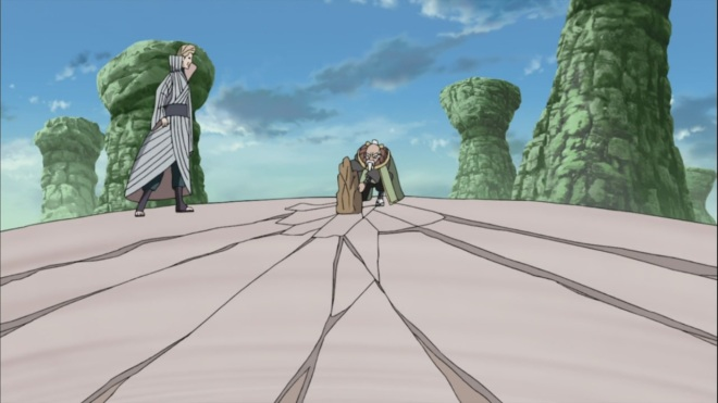 Onoki breaks clam back