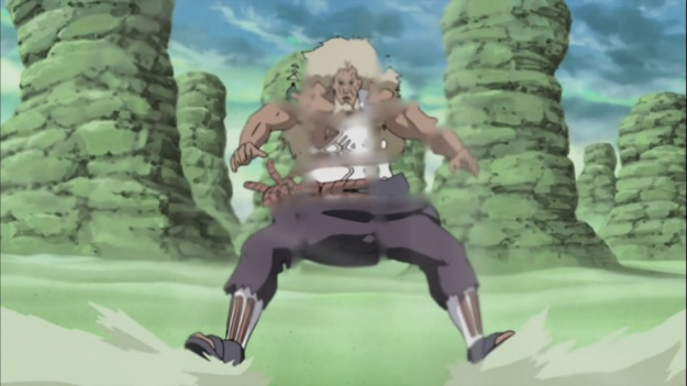 Raikage attacked by Wind
