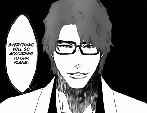Aizen during his plan to look for Shinji's Vizards