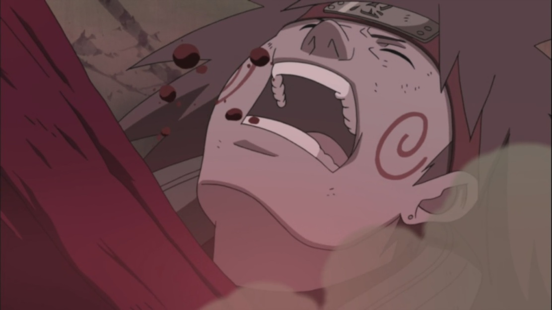 Choji getting beat down