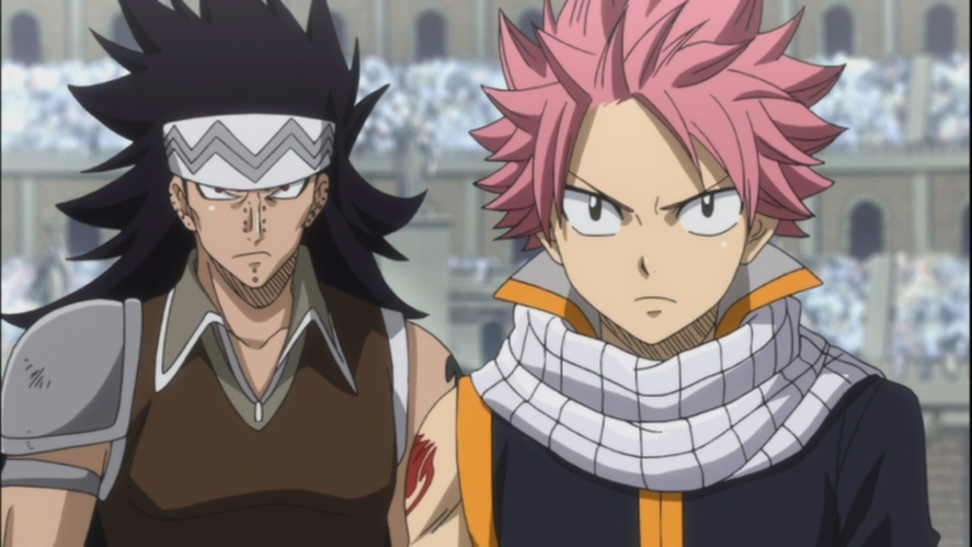 03 23 13--14 05  Natsu and Gajeel vs Sting and Rogue  Four Dragon    Gajeel Vs Rogue
