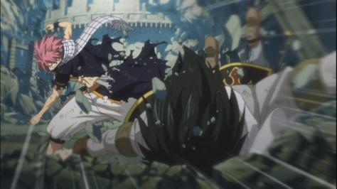 Natsu smacks Rogue