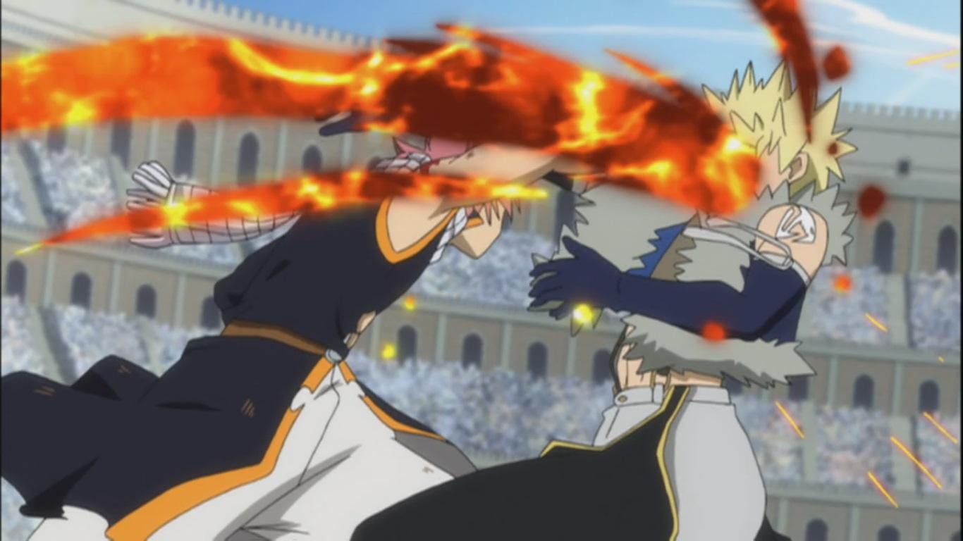 Natsu and Gajeel vs Sting and Rogue! Four Dragon Slayers ...