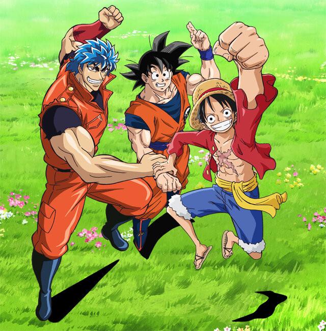 One Piece, Dragon Ball Z And Toriko Crossover Anime