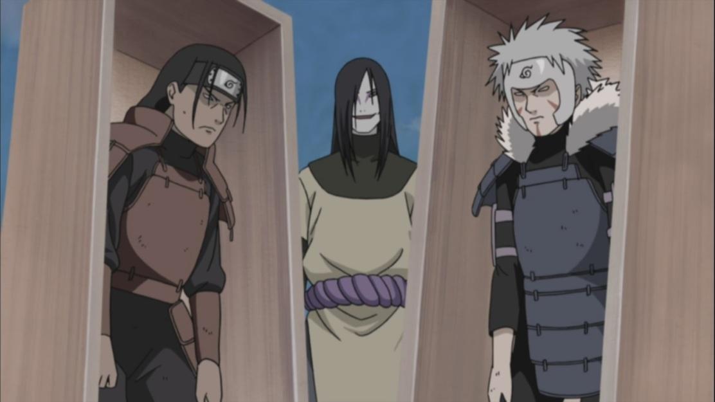 Orochimaru with Hashirama and Tobirama