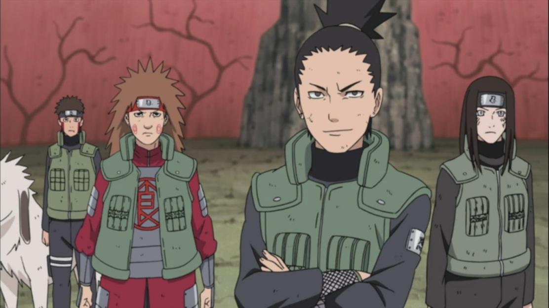 Shikamaru and others standing