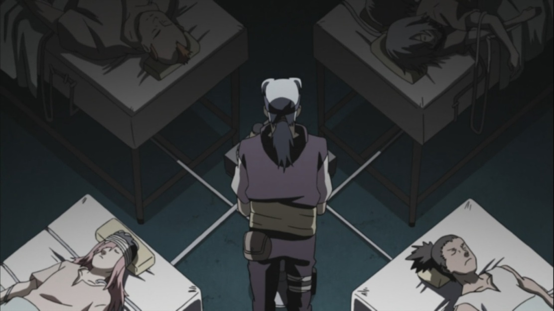 Sound Four in Orochimaru's experiment with Kabuto