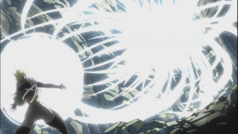 Sting showers Natsu and Gajeel with his Dragon Slayer powers