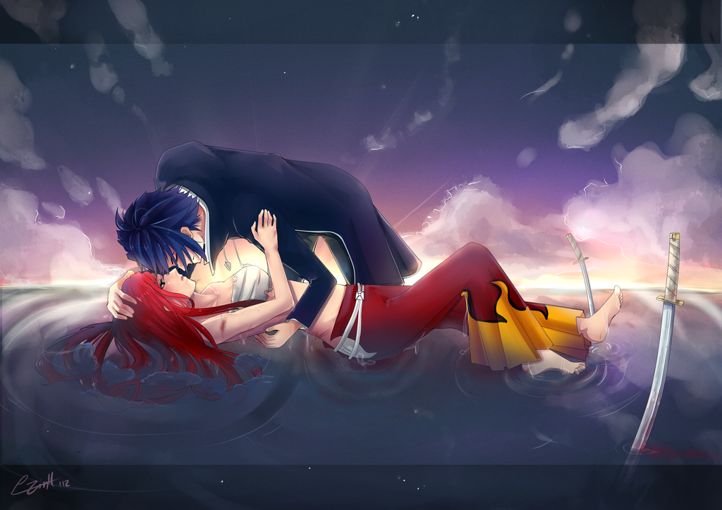 Lay Down Your Weapon – Jellal and Erza | Daily Anime Art