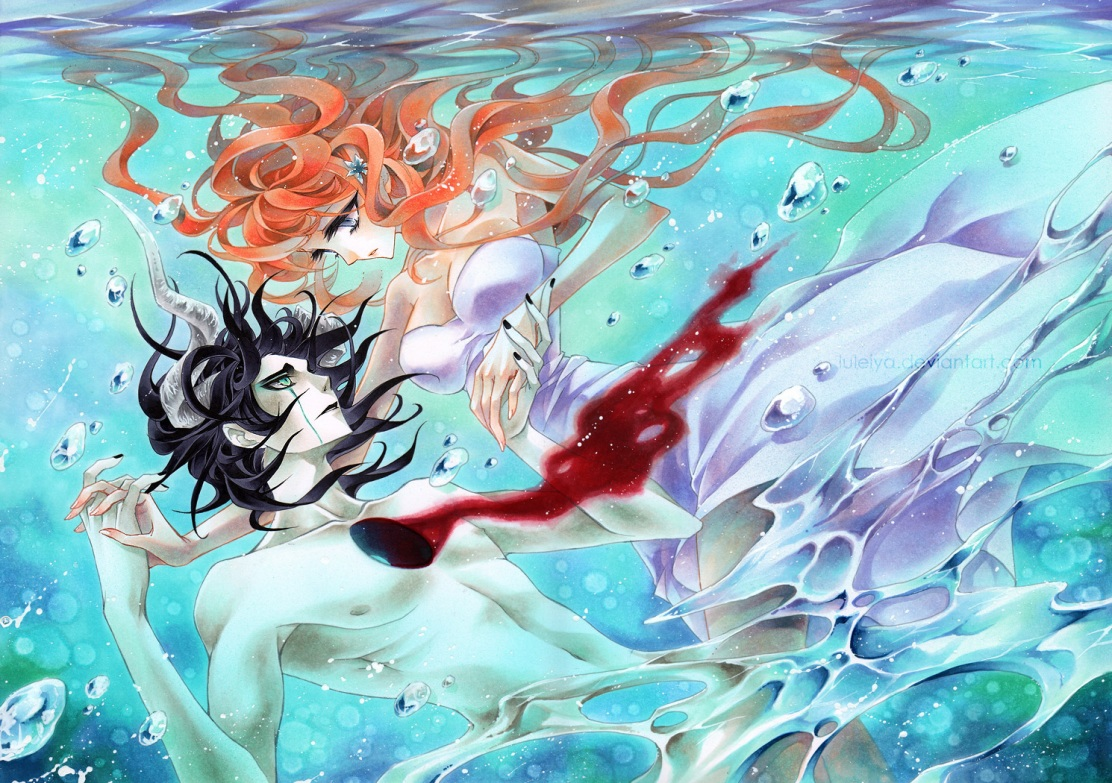 The Princess And The Devil Orihime And Ulquiorra Daily Anime Art Check out luleiya's art on deviantart. devil orihime and ulquiorra
