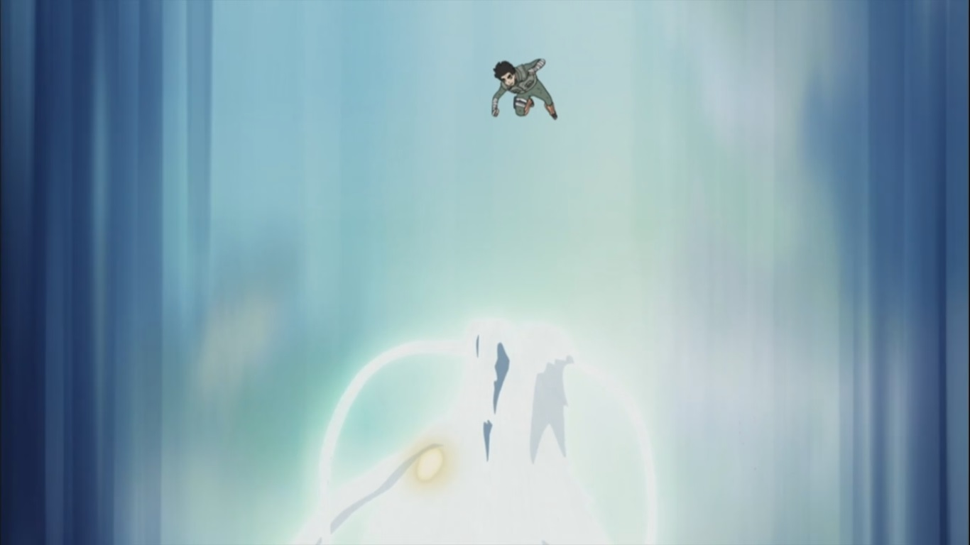 Anime Death Gif Rock Lee and the Leaf ...