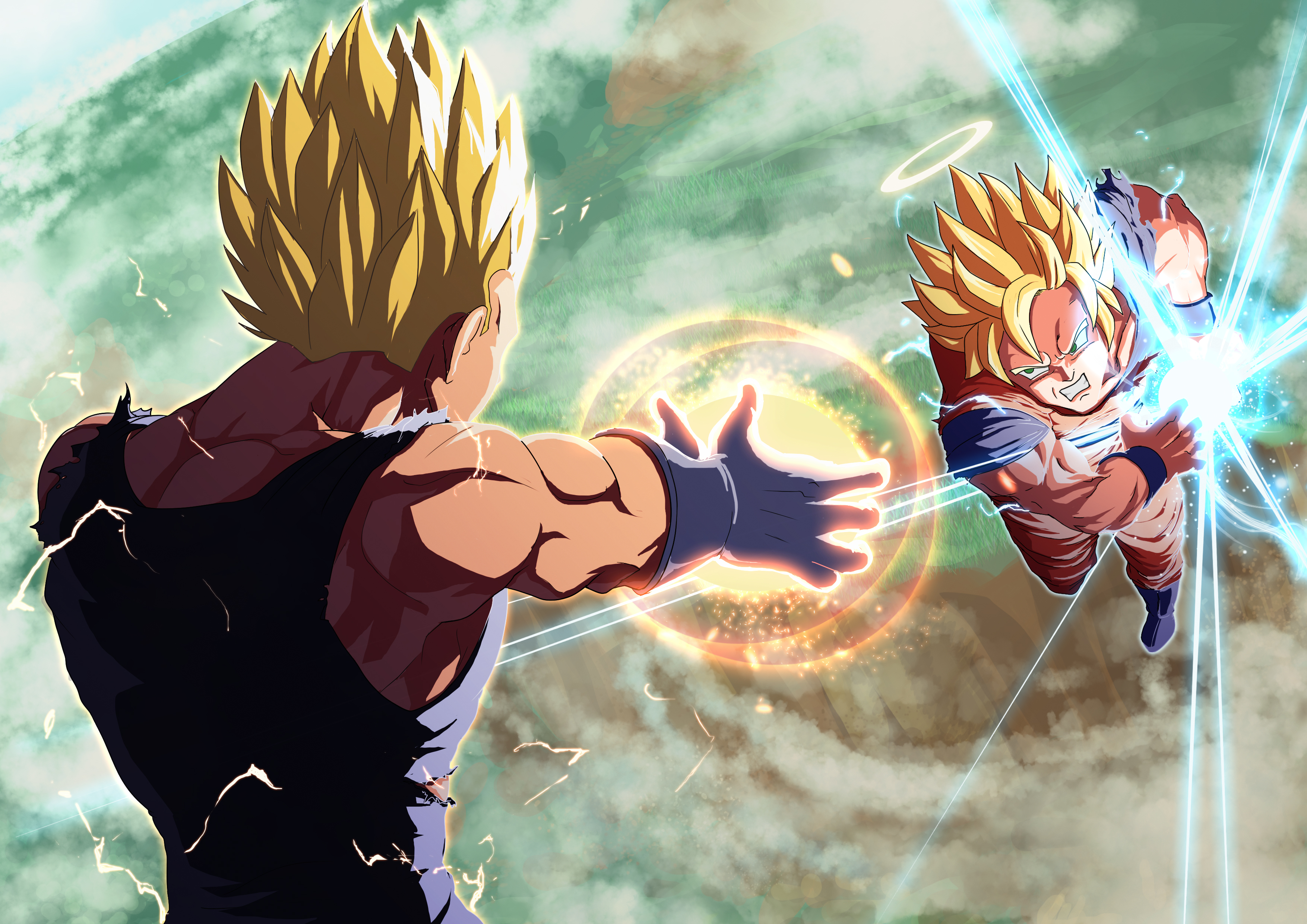Legends Goku And Vegeta Daily Anime Art