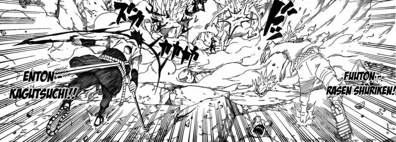 Naruto and Sasuke catchup to Sakura