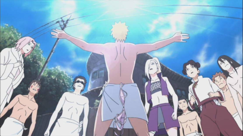 Naruto saves Lee