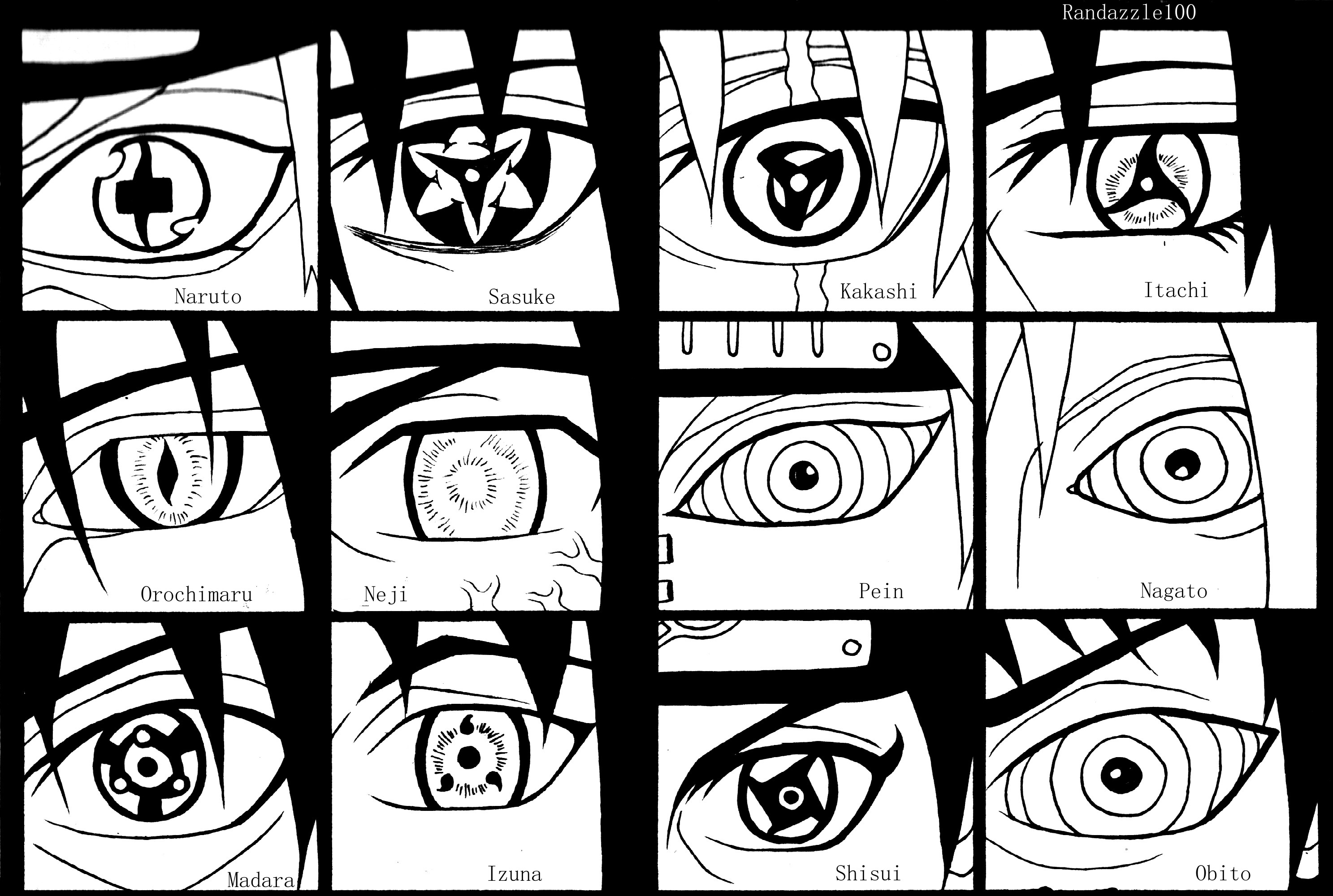 Naruto Bleach And Fairy Tail Character Eye References Daily