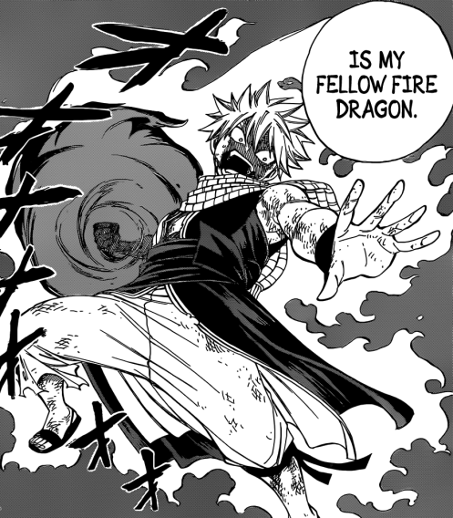 Natsu's powers as he took Atlas Flame's Fire