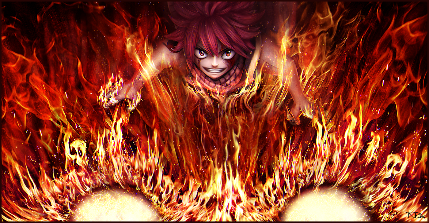 natsu�s fire dragon friend flame dragon king � fairy tail
