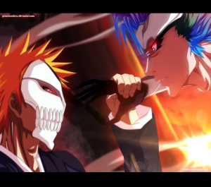 ichigo_vs_grimmjow___collab_by_tremblaxx_arts-d5roe1j