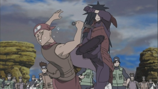 Madara kicks guy in face