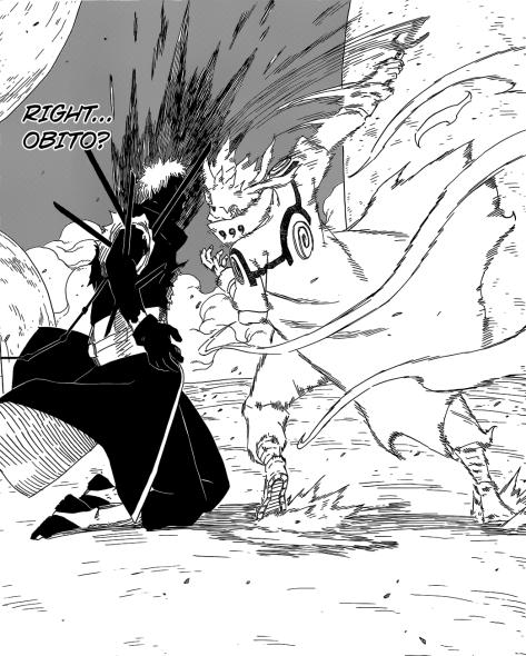 Minato hits Obito