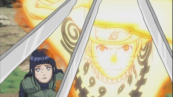 Naruto helps Hinata