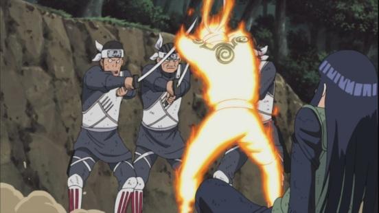 Naruto saves Hinata