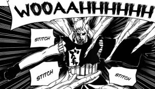 Obito stitches himself together