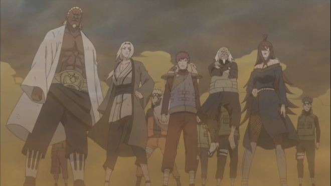 Five Kage's Assembled