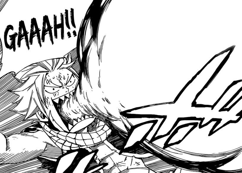 Natsu's fire from mouth