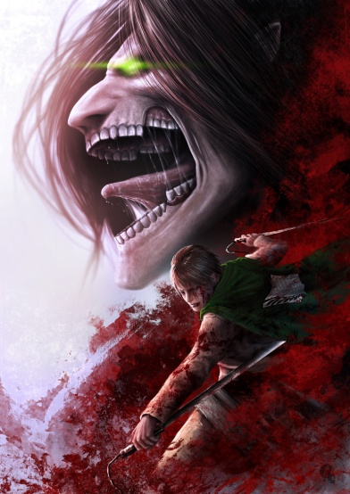 Fight With The Titan Eren Jaeger Daily Anime Art