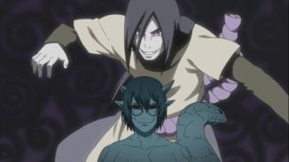 Kabuto looks up to Orochimaru