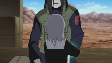 Kabuto talks to Younger Orochimaru