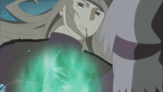Kabuto tries to heal his mother
