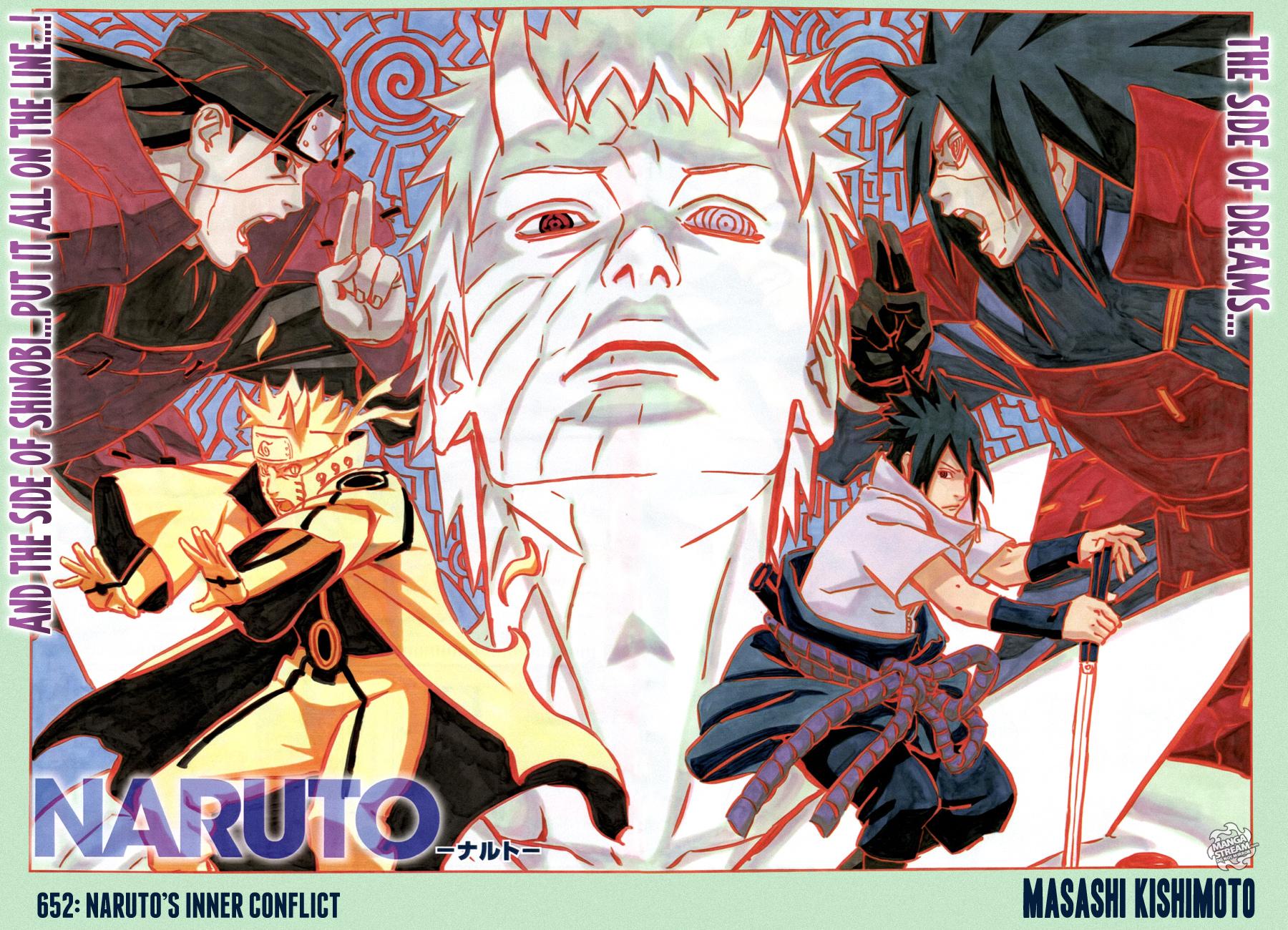 Naruto 652 Poster Inner Conflict Sasuke Obito Hashirama Madara Daily Anime Art