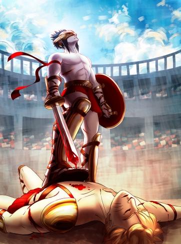 Naruto and Sasuke Victory by Atrika