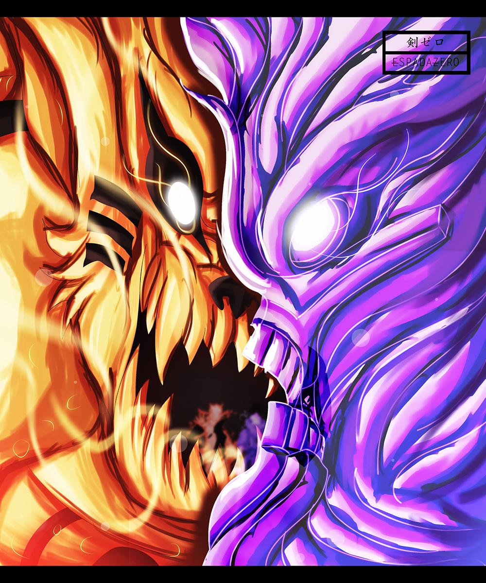 Naruto and sasuke mix chakra let s end this naruto 650 daily anime art - Naruto and sasuki ...