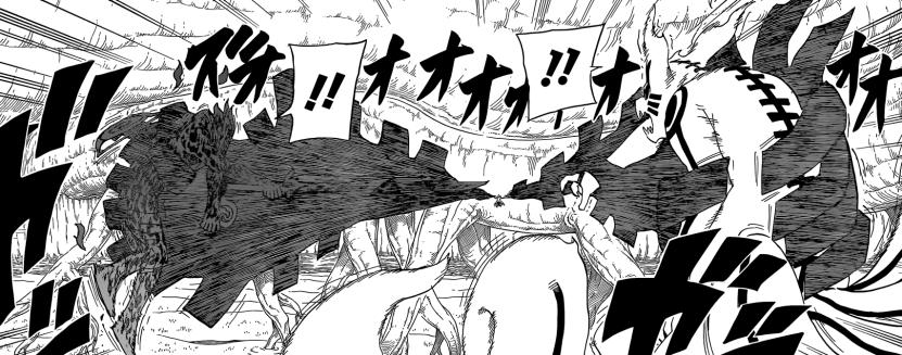 Obito grabs Naruto and Sasuke