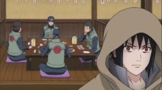 Sasuke hears Leaf Ninja's talking