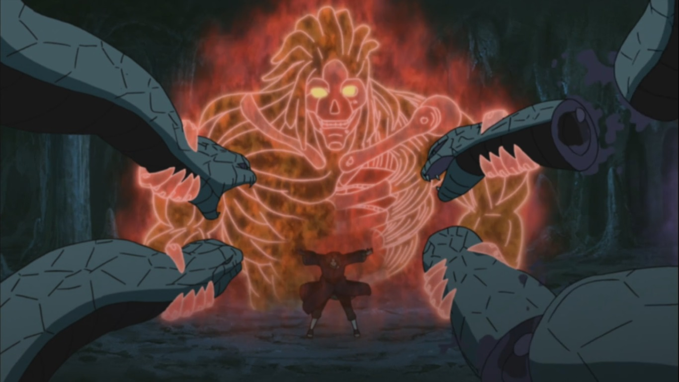 snakes stopped by itachi susanoo daily anime art