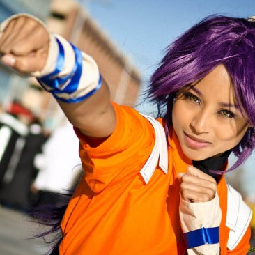 Yoruichi Cosplay Punch by the-mirror-melts