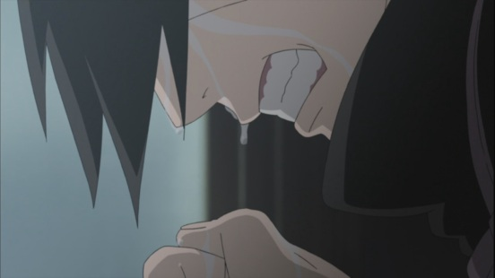 Itachi crying about to kill mother and father