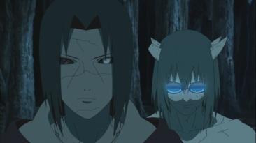 Itachi has Kabuto in Izanami