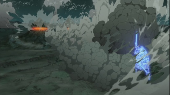 Madara cuts two mountains off