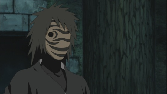 Younger Tobi with mask